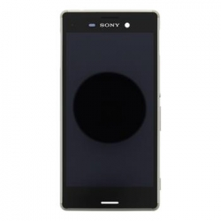 LCD Display + Dotyková Deska + Kompletní Kryt Silver Sony E2303 Xperia M4 Aqua (Service Pack)