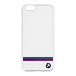 BMHCP6TSWH BMW Stripe Aluminium White Hard Case pro iPhone 6/6S