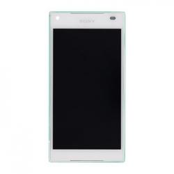 LCD Display + Dotyková Deska + Přední Kryt White Sony E5823 Xperia Z5compact (Service Pack)