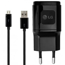 MCS-04ER + EAD62329304 LG USB microUSB Cestovní Dobíječ Black (Bulk)