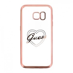 GUHCS7TRHRG Guess Heart TPU Pouzdro Rose Gold pro Samsung G930 Galaxy S7