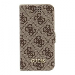 GUBKMT4GB Guess 4G Book Universal Pouzdro Brown vel. M