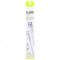 USAMS Datový Kabel microUSB U-Gee White (EU Blister)
