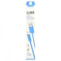 USAMS Datový Kabel microUSB U-Gee Blue (EU Blister)