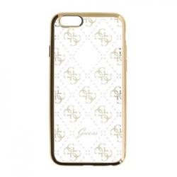 GUHCP6TR4GG Guess 4G TPU Pouzdro Gold pro iPhone 6/6S