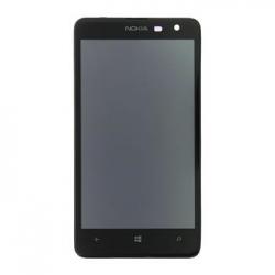 LCD Display + Dotyková Deska + Přední Kryt Nokia 625 Lumia Black