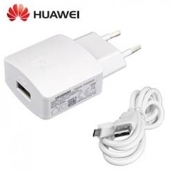 HW-050200E3W Huawei USB Cestovní Dobíječ + microUSB Datový Kabel White (Bulk)