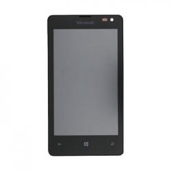 LCD Display + Dotyková Deska + Přední Kryt Black pro Nokia Lumia 435