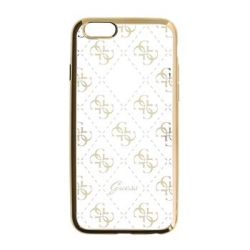GUHCPSETR4GG Guess 4G TPU Pouzdro Gold pro iPhone 5/5S/SE