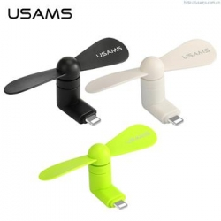 USAMS Mini Fan Lightning Port Black (EU Blister)