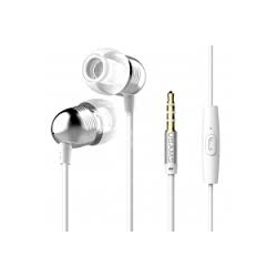 USAMS EP-8 Bullet Stereo Headset 3,5mm vč. Mikrofonu White
