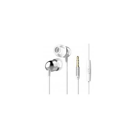 USAMS EP-8 Bullet Stereo Headset 3,5mm vč. Mikrofonu White