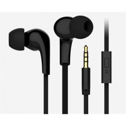 USAMS Leo Stereo Headset 3,5mm Black