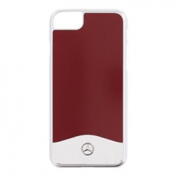 MEHCP7CUALRE Mercedes Hard Case Aluminium Red pro iPhone 7