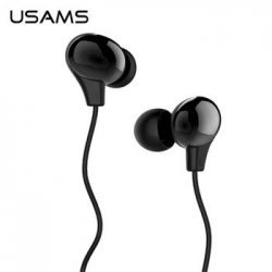USAMS Ewave Stereo Headset 3,5mm Glossy Black