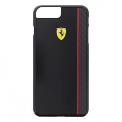 FECBSHCP7LBK Ferrari Scuderia Real Carbon Hard Case Black pro iPhone 7 Plus