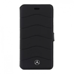 MEFLBKP7CUSBK Mercedes Book Pouzdro Wave III Black pro iPhone 7