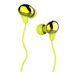 USAMS Ewave Stereo Headset 3,5mm Green/Gold