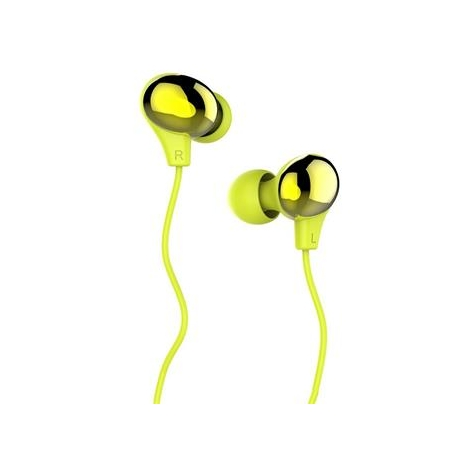 USAMS Ewave Stereo Headset 3,5mm Green/Gold