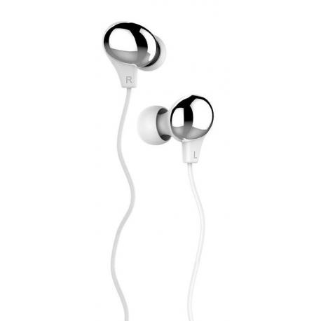 USAMS Ewave Stereo Headset 3,5mm White/Silver