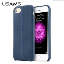 USAMS Joe Zadní Kožený Kryt Blue pro iPhone 7 Plus