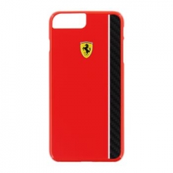 FECBSHCP7LRE Ferrari Scuderia Real Carbon Hard Case Red pro iPhone 7 Plus
