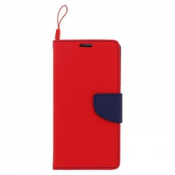 Fancy Diary Book Pouzdro Red/Navy pro Huawei Y6 II