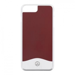 MEHCP7LCUALRE Mercedes Hard Case Aluminium Red pro iPhone 7 Plus