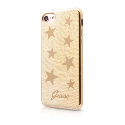 GUHCP7STABE Guess Stars Soft TPU Pouzdro Beige pro iPhone 7/8