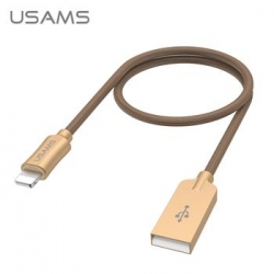 USAMS SJ109 Datový Kabel Lightning U-Win Brown (EU Blister)