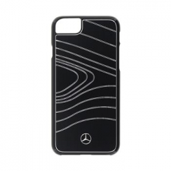 MEHCP7OLBRBK Mercedes Hard Case Wave III Alu Black pro iPhone 7
