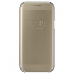 EF-ZA520CFE Samsung Clear View Pouzdro Gold pro Galaxy A5 2017 (EU Blister)