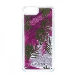 GUHCP7GLUPPI Guess Liquid Glitter Hard Pouzdro Palm Spring Rose pro iPhone 6/6S/7
