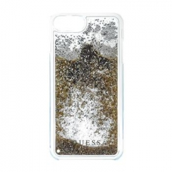 GUHCP7LGLUFLGO Guess Liquid Glitter Hard Pouzdro Gold pro iPhone 6/6S/7 Plus