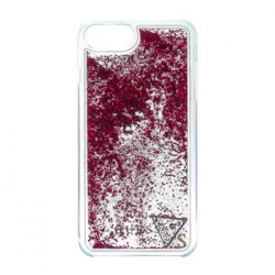 GUHCP7LGLUFLRA Guess Liquid Glitter Hard Pouzdro Raspberry pro iPhone 6/6S/7 Plus