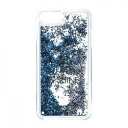GUHCP7LGLUQBL Guess Liquid Glitter Hard Pouzdro Shine Blue pro iPhone 6/6S/7 Plus
