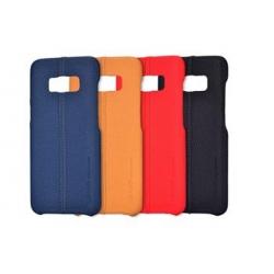 USAMS Joe Zadní Kožený Kryt Light Brown pro Samsung G955 Galaxy S8 Plus