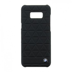 BMHCS8LHEXBK BMW Hexagon Black Kožený Zadní Kryt pro Samsung G955 Galaxy S8 Plus