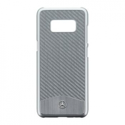 MEHCS8CACSI Mercedes Hard Case Wave V Alu Silver pro Samsung G950 Galaxy S8