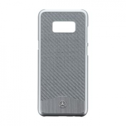 MEHCS8LCACSI Mercedes Hard Case Wave V Alu Silver pro Samsung G955 Galaxy S8 Plus