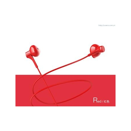 USAMS EP-17 High Fidelity In-Ear Stereo Headset 3,5mm Red