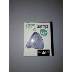 LEDLUX Žiarovka Studená biela 27SMD 5,5W MR16 2835