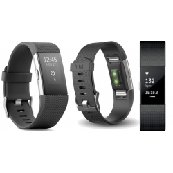 Fitbit Charge 2 large black/silver