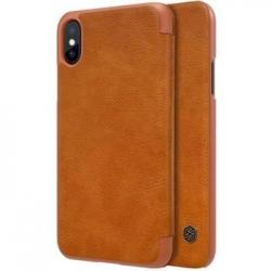 Nillkin Qin Book Pouzdro Brown pro iPhone X/XS