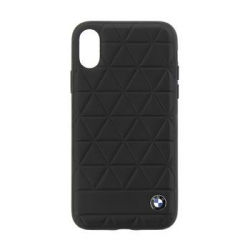 BMHCPXHEXBK BMW Hexagon Leather Hard Case Black pro iPhone X