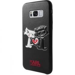 KLHCS8LCL1BK Karl Lagerfeld Karl and Choupette in Love Hard Case Black pro Samsung G955 Galaxy S8 Plus