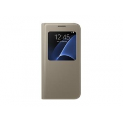 EF-CG930PFE Samsung S-View Pouzdro Gold pro G930 Galaxy S7 (Pošk. Blister)