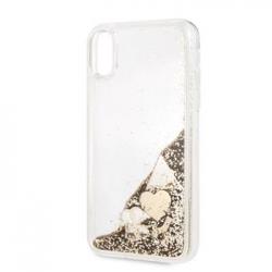 GUHCI61GLHFLGO Guess Glitter Case Hearts Gold pro iPhone XR