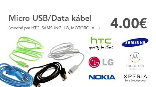 MicroUSB kábel.