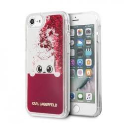 KLHCI8PABGFU Karl Lagerfeld Peek a Boo TPU Case Glitter Fuchsia pro iPhone 7/8